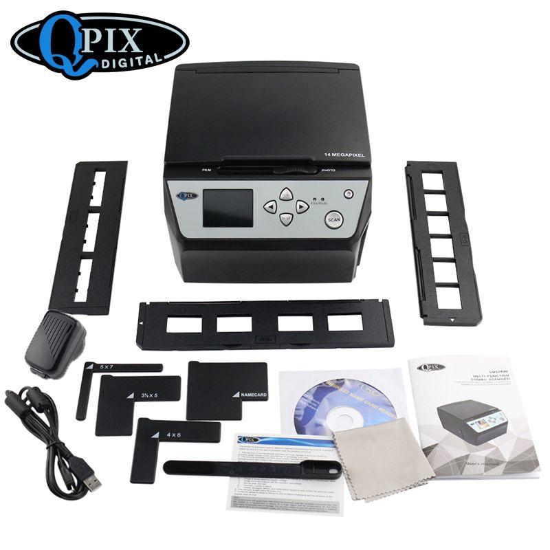 Hot 22 Mega Pixels 4 in 1 COMBO Photo and Digital Film Scanner 135 Negative Converter Photo Film Scanner Business Card Scanner