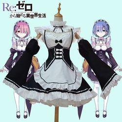 Аниме Re: zero Kara Hajimeru Isekai Seikatsu жизнь в другом мире Ram Rem косплей костюм горничной платье Хэллоуин костюм