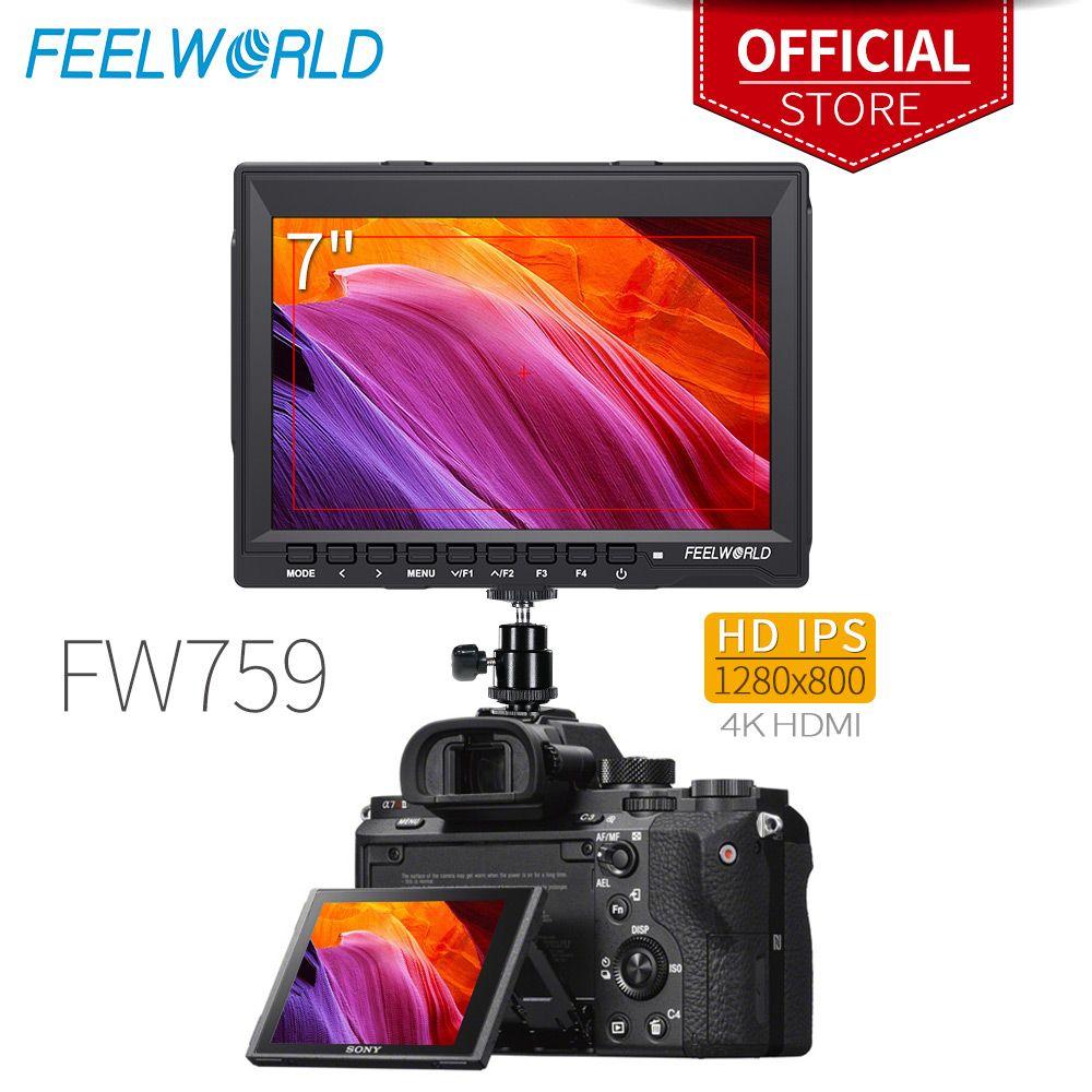 Feelworld FW759 7 Zoll IPS 1280x800 4 K HDMI Kamera Feld Monitor mit Peaking Focus 7