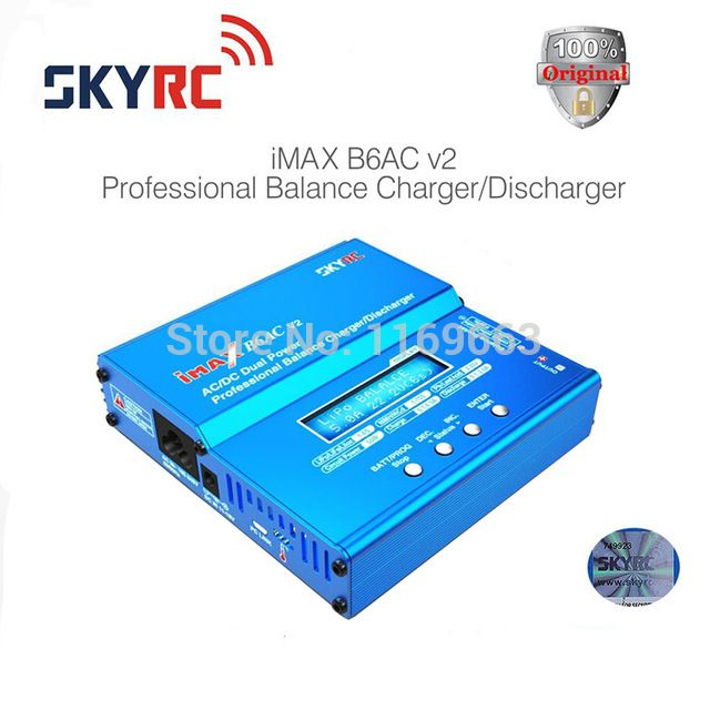 100% Original SKYRC IMAX B6AC V2 Charger Model Aircraft Genuine Lipo Battery Balance Charger for RC Helicopter