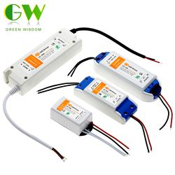 12 В постоянного тока 18 Вт 36 Вт 72 Вт 100 Вт Трансформаторы освещения высокого качества светодиодный драйвер для светодиодной ленты 12 В питания.