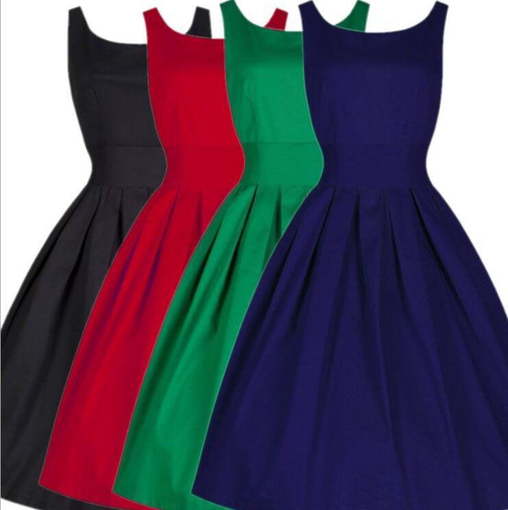 MSAISS Marque Femmes Robe Noir Rouge D'été Audrey Hepburn 50 s 60 s Vintage Robes Robes Plus Taille Rockabilly Partie robe S-5XL
