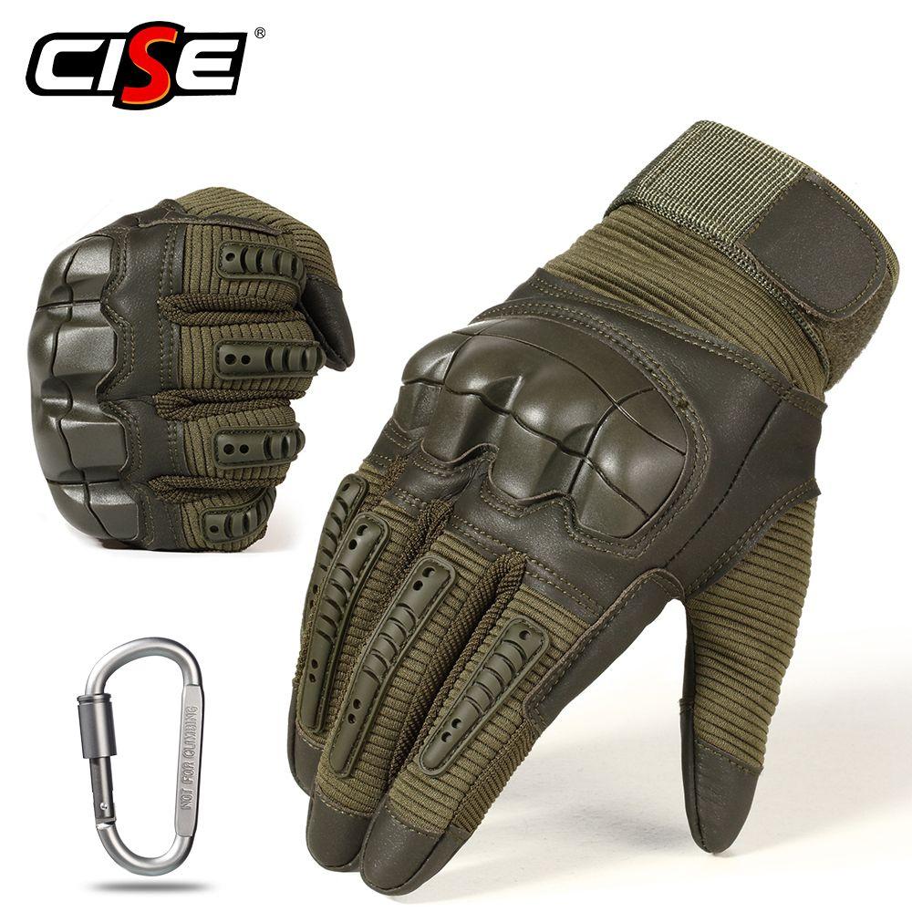 Écran tactile PU cuir moto gants Motocross équipement de protection moto course Knuckle dur doigt complet gant hommes femmes