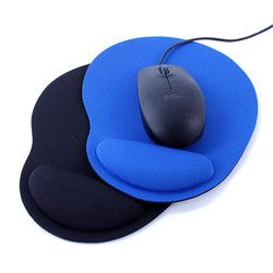 Muñeca protege la PC óptica del Trackball espesa Mouse Pad muñeca Comfort Mouse Pad Mat para el juego 2 colores