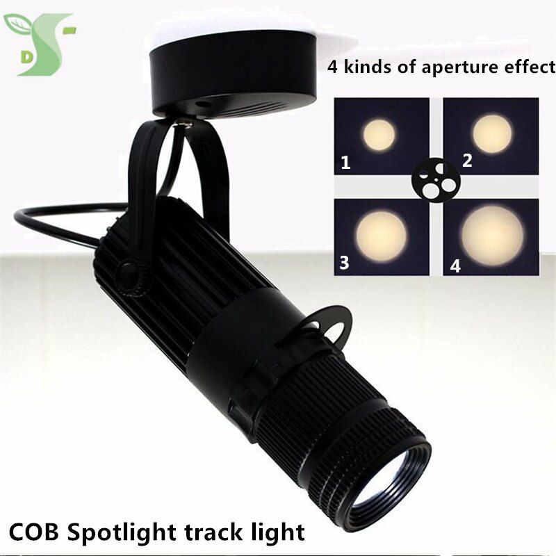 3w 5w 7w 10w cob spotlights LED Track light Lamp Zoom light lighting 4 kinds of light effects ceiling type track rail type