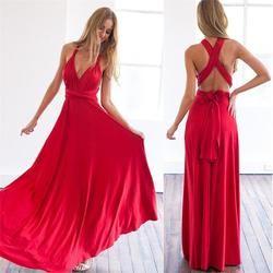 Moda mujeres Sexy Party Club largo vestido de verano Maxi vestidos de moda damas Boho mujeres vestido LD734