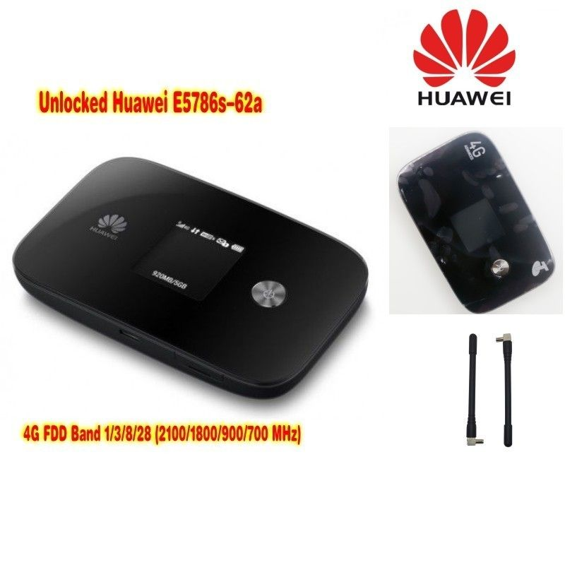 LTE router cat6 300Mbps unlocked Huawei E5786 e5786s-62a 4g lte MiF router 4g wifi dongle plus with a pair antenna