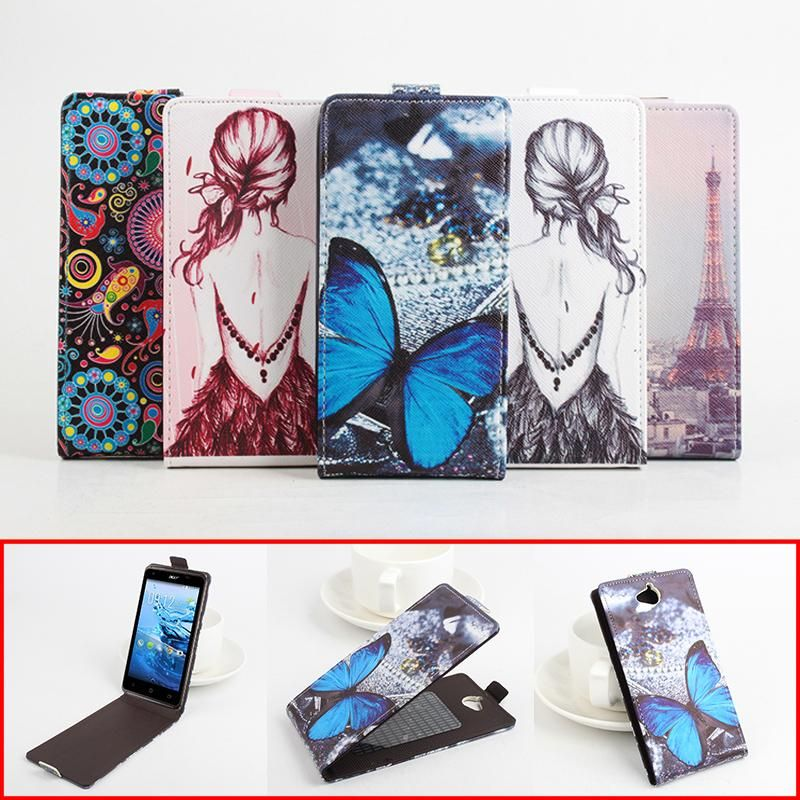 Luxury Leather Case For Acer Z410 Butterfly Flower Tower Patterm Wallet Phone Cases For Acer Z410