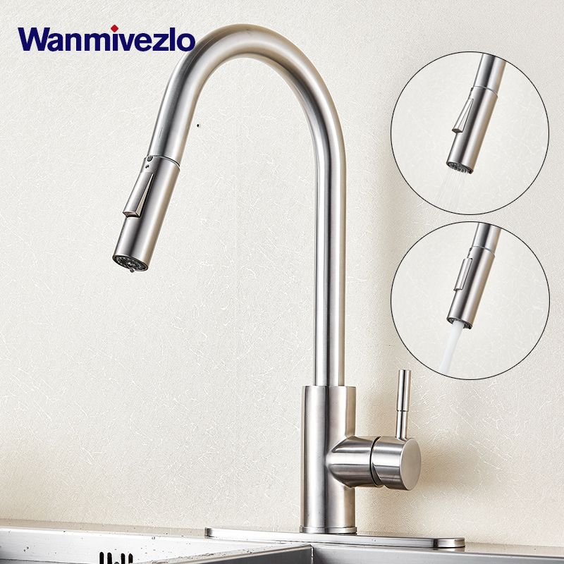 Wanmivezlo Touch Sensor Kitchen Mixer Tap Stainless Steel Sensitive Touch Control Faucet Mixer For Kitchen