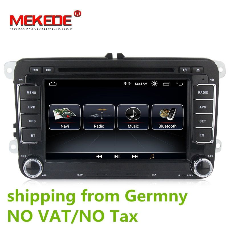 Android 8.0 Auto DVD GPS Navigation 1024*600 Quad Core für VW Volkswagen Skoda POLO GOLF 5 6 PASSAT JETTA TIGUAN TOURAN Caddy