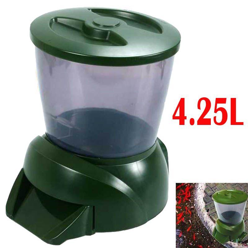 automatic fish feeder auto pond fish feeder plastic Timer - 4.25L 1.6kg 1 to 90 days fish food Digital Aquarium Auto fish Feeder