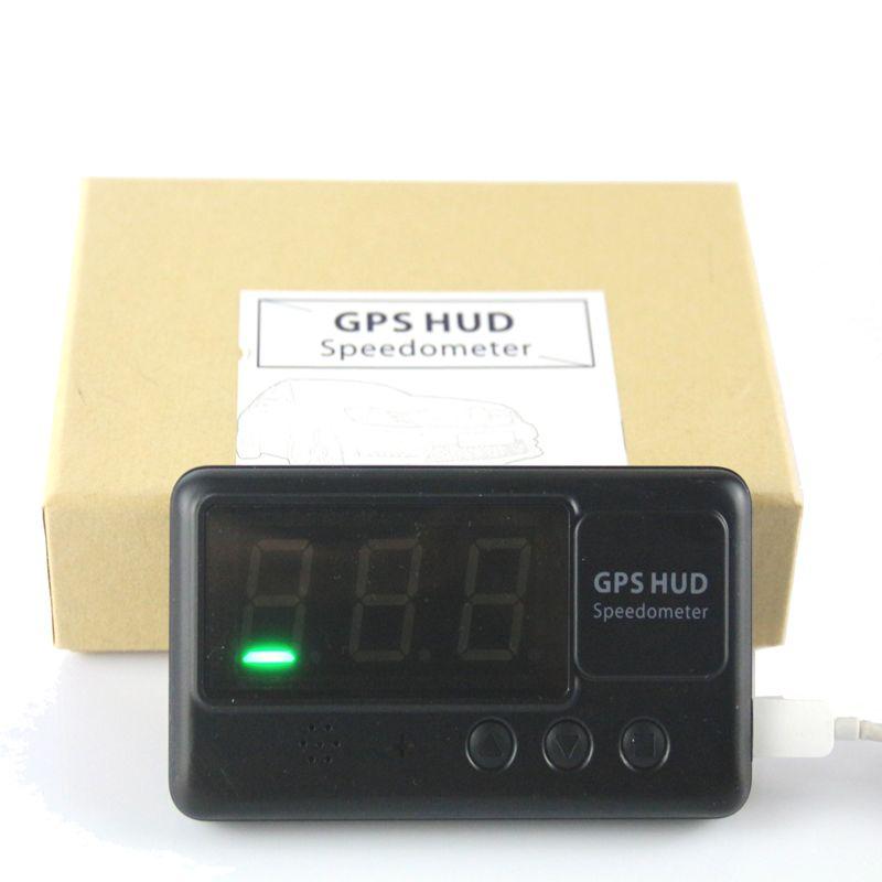 findarling C60 HUD Speedometer Overspeed Alarm Car GPS Hud Head Up Display projects vehicle speed on windshield