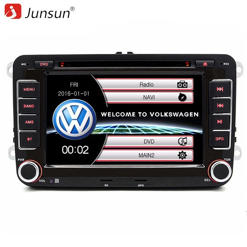 Junsun 7 inch 2 din Car DVD GPS radio player for Volkswagen VW golf 6 touran passat B7 sharan Lavida polo tiguan with free gift