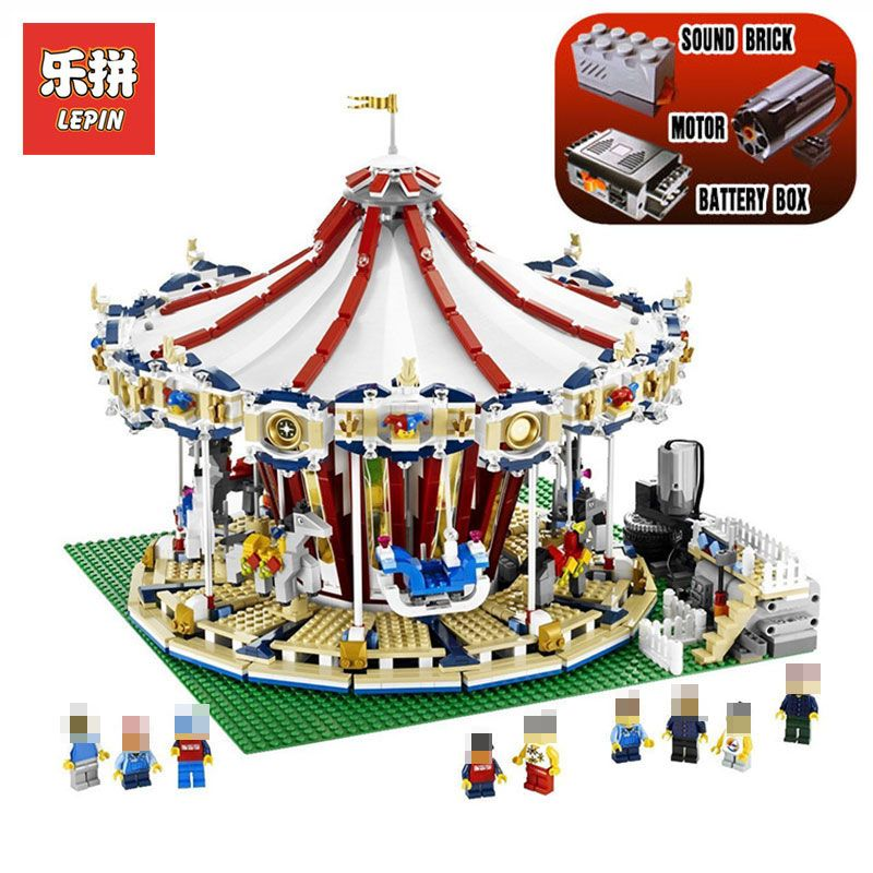3263PCS Lepin 15013A City Street Ceator Carousel Model Building Kits Blocks Toy amusement park LegoINGlys 10196 Birthday Gifts