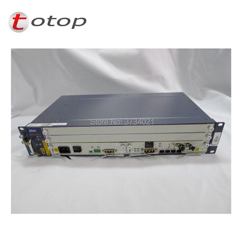 Original OLT ZTE C320 With AC+DC Power Supply 1*SMXA(1G) + 1*PRAM +16 Port GTGH C+ Card