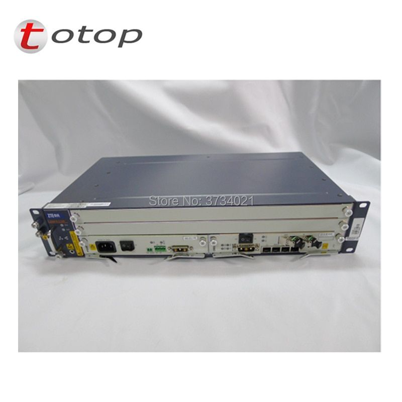 Original OLT ZTE C320 With AC+DC Power Supply 1*SMXA(1G) + 1*PRAM +16 Port GTGH C+ Card