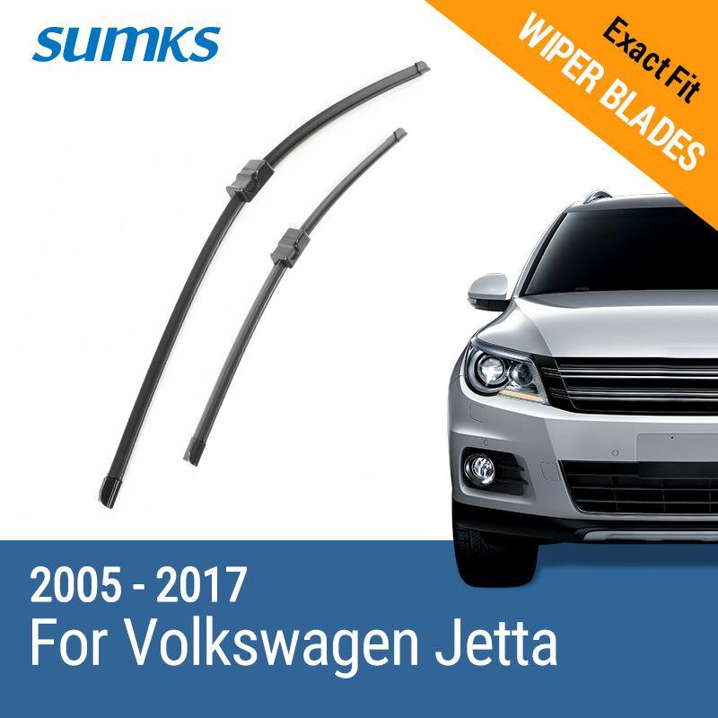 SUMKS Limpiaparabrisas Cuchillas para Volkswagen Jetta 24