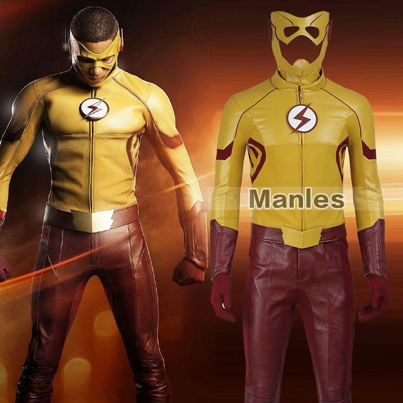 Die Saison 3 Kind-Kostüm Cosplay Wally West Erwachsene Männer Outfit Superheld Halloween Cosplay Kostüm Nach Maß