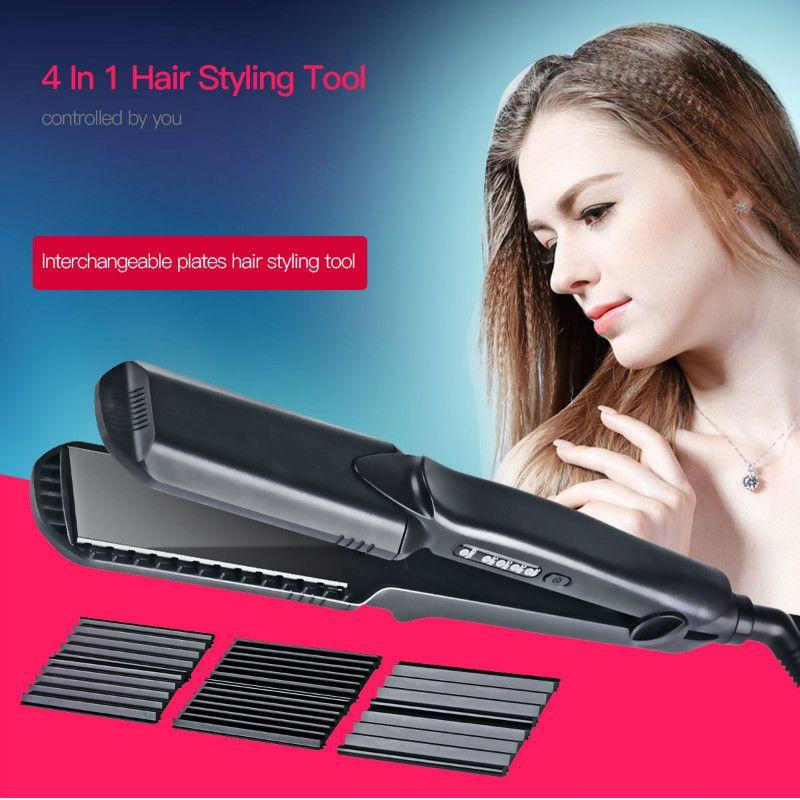 Fer à lisser professionnel fer à friser plat en céramique Tourmaline contrôle de température ondes de cheveux plaque bigoudi outils de coiffage 33