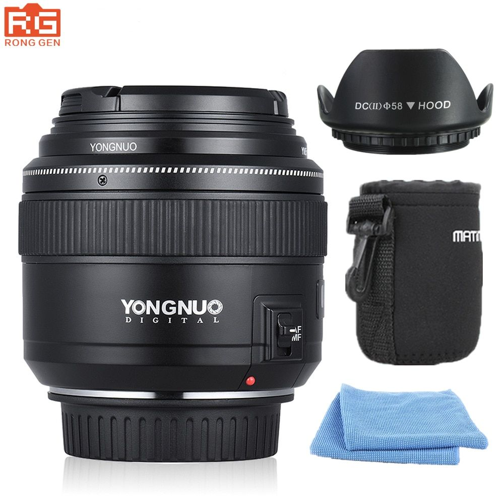 YONGNUO YN85mm f1.8 AF/MF Standard Mid-Range Telephoto Lenses Focal Imaging Camera lens for Canon EF Mount EOS Cameras