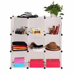 Homdox 9 Cubes Économie D'espace De Stockage Placard Organisateur pour Chaussures Vêtir Chambre Meubles Translucide N18 *