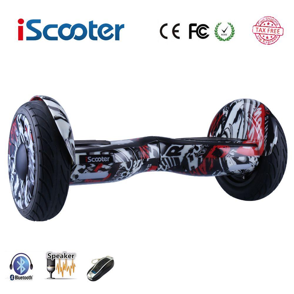 IScooter Hoverboard Bluetooth Elektroroller selbstausgleich roller Smart zwei rad skateboard Bluetooth Lautsprecher mit Fernbedienung