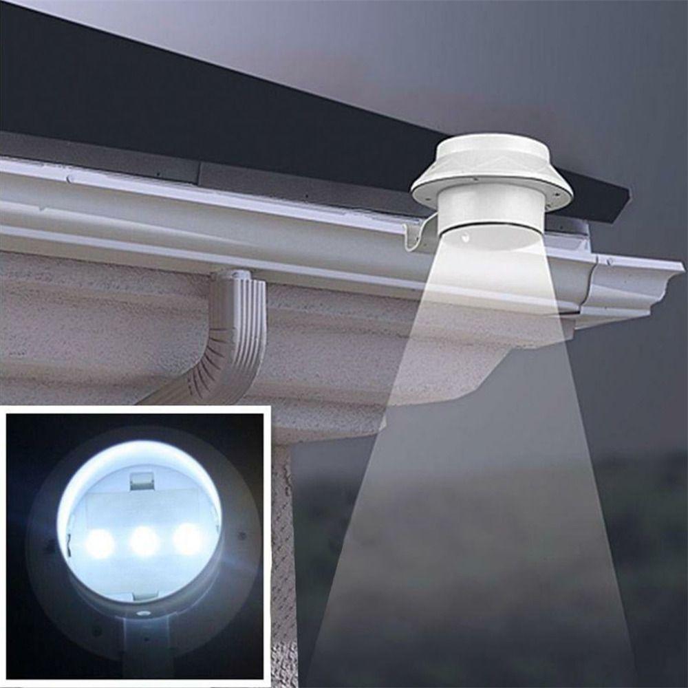 1pc 3 LEDs Solar Lamp Sensor Waterproof Solar Light LED Street Light Outdoor Path Wall Lobby Pathway Lamp Security Spot Lighting