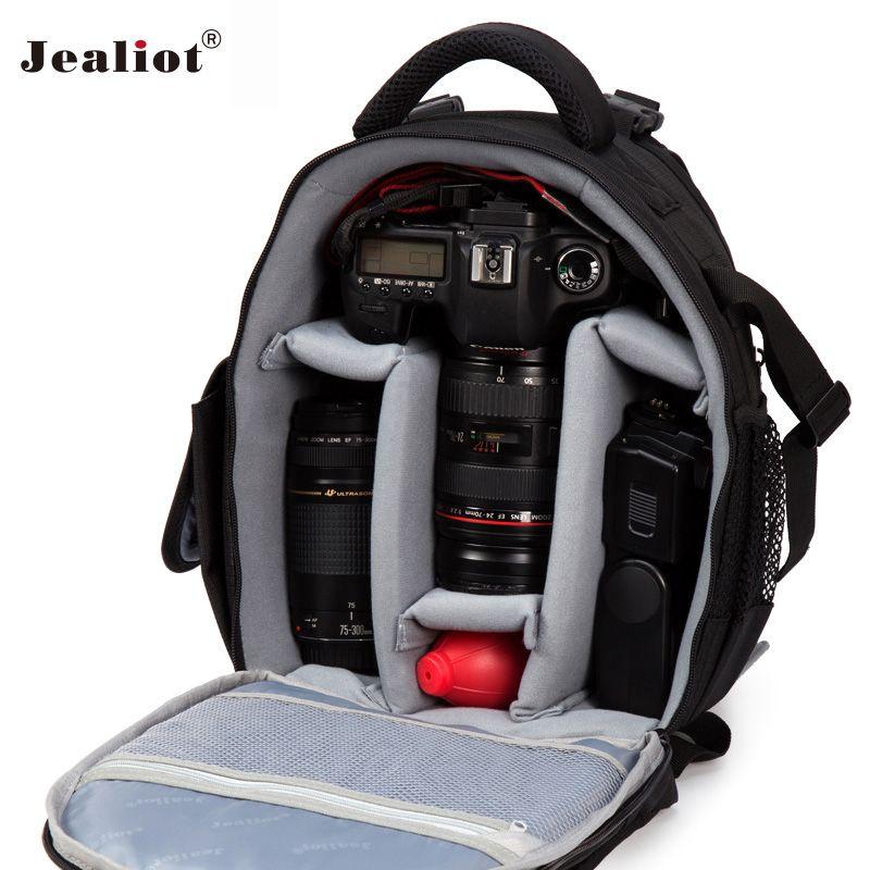 Jealiot sac pour appareil Photo sac à dos trépied dslr SLR ordinateur portable étanche vidéo Photo sacs étui pour objectif numérique pour Canon Nikon d3200 d3100