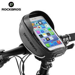 ROCKBROS Велосипедная сумка на руль Сумки для велосипеда Велосумка водонепроницаемый чехол Нейлоноваясумка с сенсорным экраном для Смартфон...