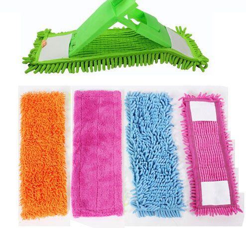 1 STÜCKE Boden Klapp Flachmopp Tuch Kopf Korallen Samt Chenille Refill Lappen Ersetzen Microfaser Tuch Leicht Waschen 40x12 CM
