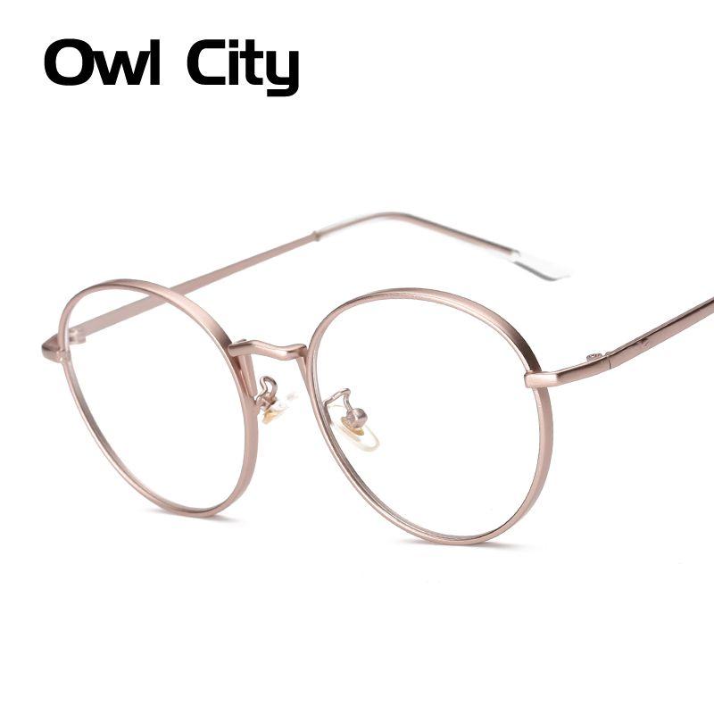 Для женщин дизайнерские Брендовые очки овальная Роза сплав рамки принт оптический ясно Len очки унисекс оправы для очков человека