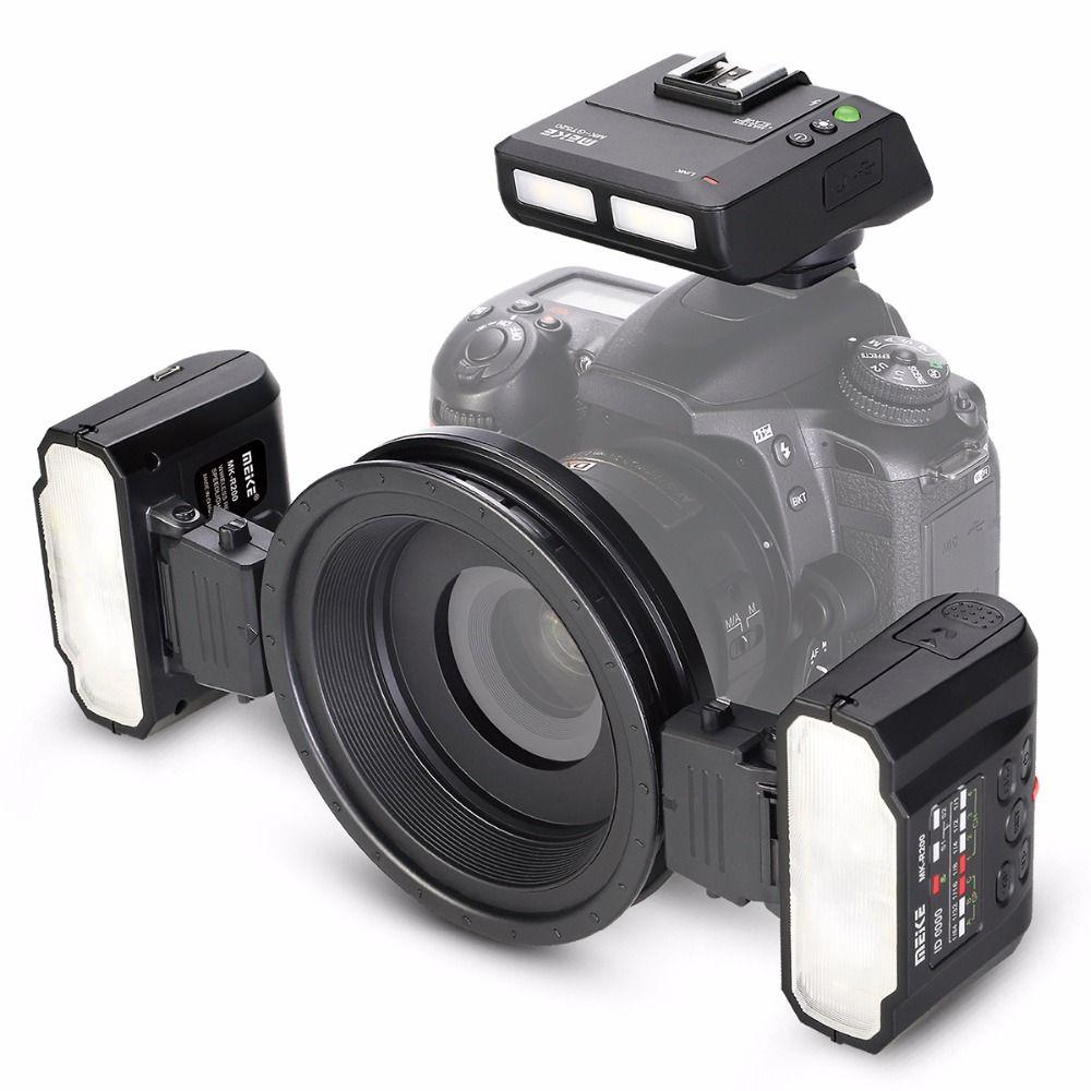 Meike MK-MT24 Macro Twin Lite Flash for Nikon Digital SLR Cameras D1X D2 D80 D90 D610 D3100 D3200 D3300 D3400 D5000 D5100 D5300