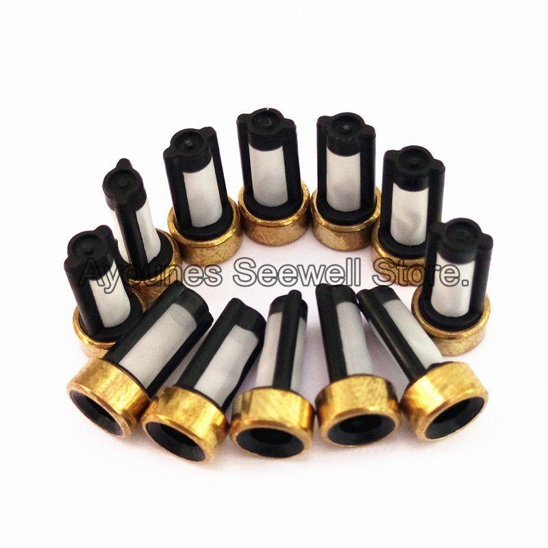 500 stück fuel injector filter ASNU03C 11001 größe 12*6*3mm auto ersatzteile mikrofilter fit für bosch injektor repair (AY-F101)