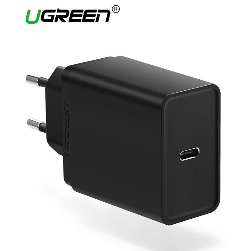 Ugreen 30 W USB Type C Chargeur Rapide Type-C Mur Chargeur Mobile Téléphone PD Chargeur pour Nintendo Commutateur Macbook Nexus 6 P/5X Lumia950
