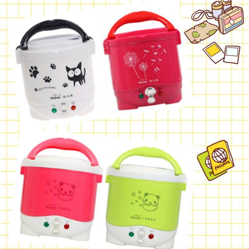 Cuiseur à riz 1L utilisé dans la maison 110 v à 220 v ou voiture 12 v à 24 v assez pour deux personnes avec des Instructions en anglais