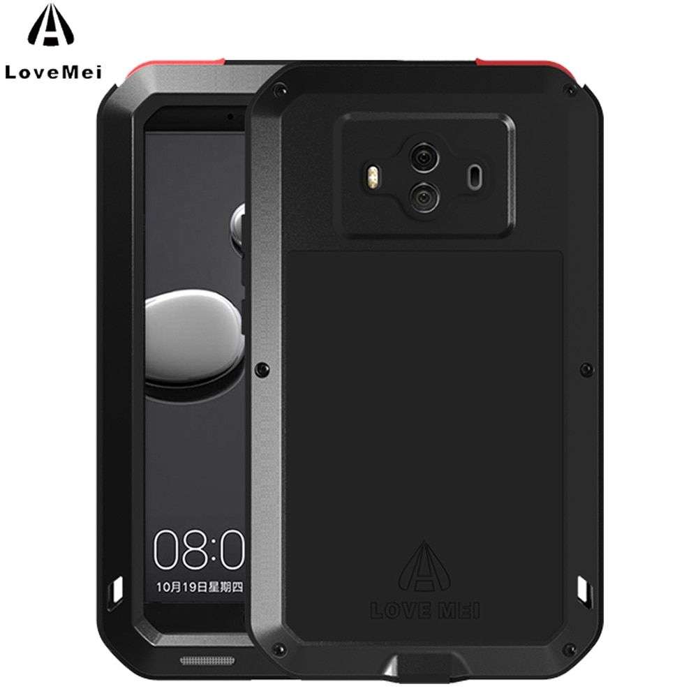 LOVE MEI For Huawei Mate 10 Case Aluminum Metal ShockProof Luxury Phone Cases For Huawei Mate 10 Case Cover Powerful Protection