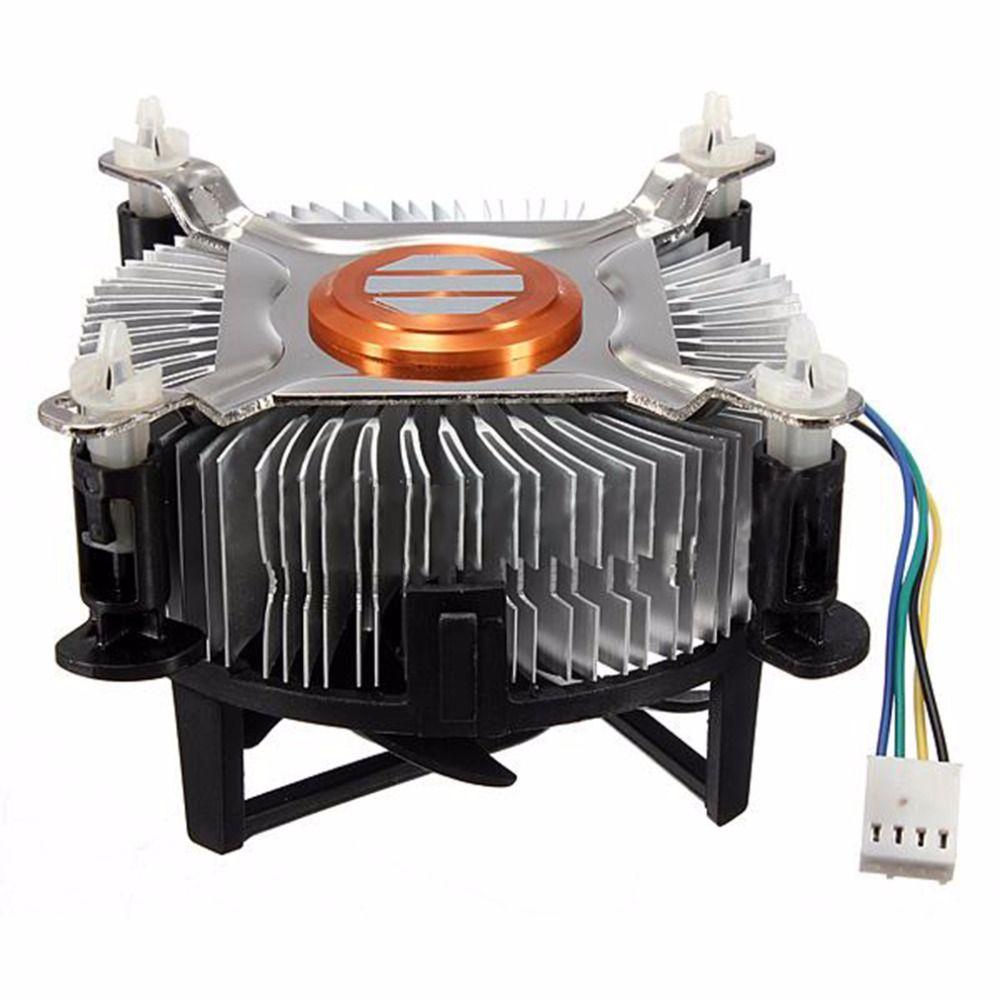 Hohe Qualität Aluminium Material CPU Lüfter Kühler Für Computer PC Ruhigen Stillen Lüfter Für 775/1155/1156 dropshipping
