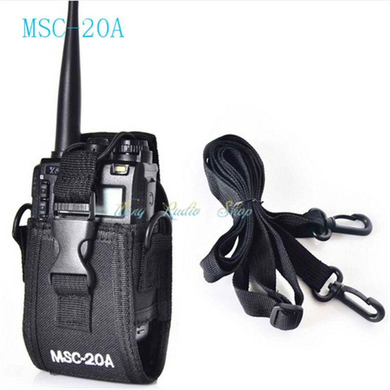 walkie talkie case MSC-20A Holder Pouch Bag For Kenwood BaoFeng UV-5R UV-5RA UV-5RB UV-5RC UV-B5 UV-B6 BF-888S Radio Case Holder