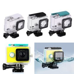 Camera Cases Underwater 45m Waterproof Protective Housing Case Transparent Shockproof Diving Box for Xiaomi Yi 1 Sports Camera