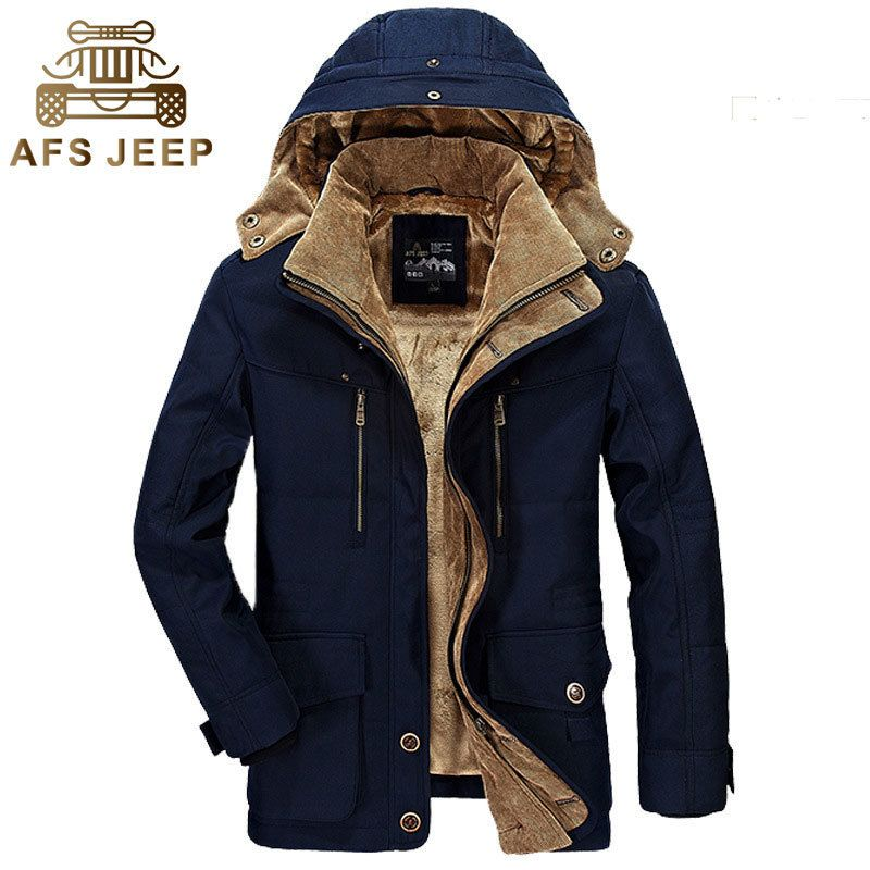 Plus size Winter Men Thick Coats Jackets Casual Fashion Warming Multi-Pocket Drop Shipping Brand Clothes Jackets Coats
