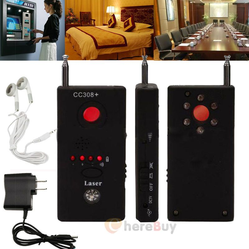 Full Range Anti-Spy Bug Detect RF Signal Detector CC308+Wireless Camera GSM Device Finder FNR Full-frequency Detector