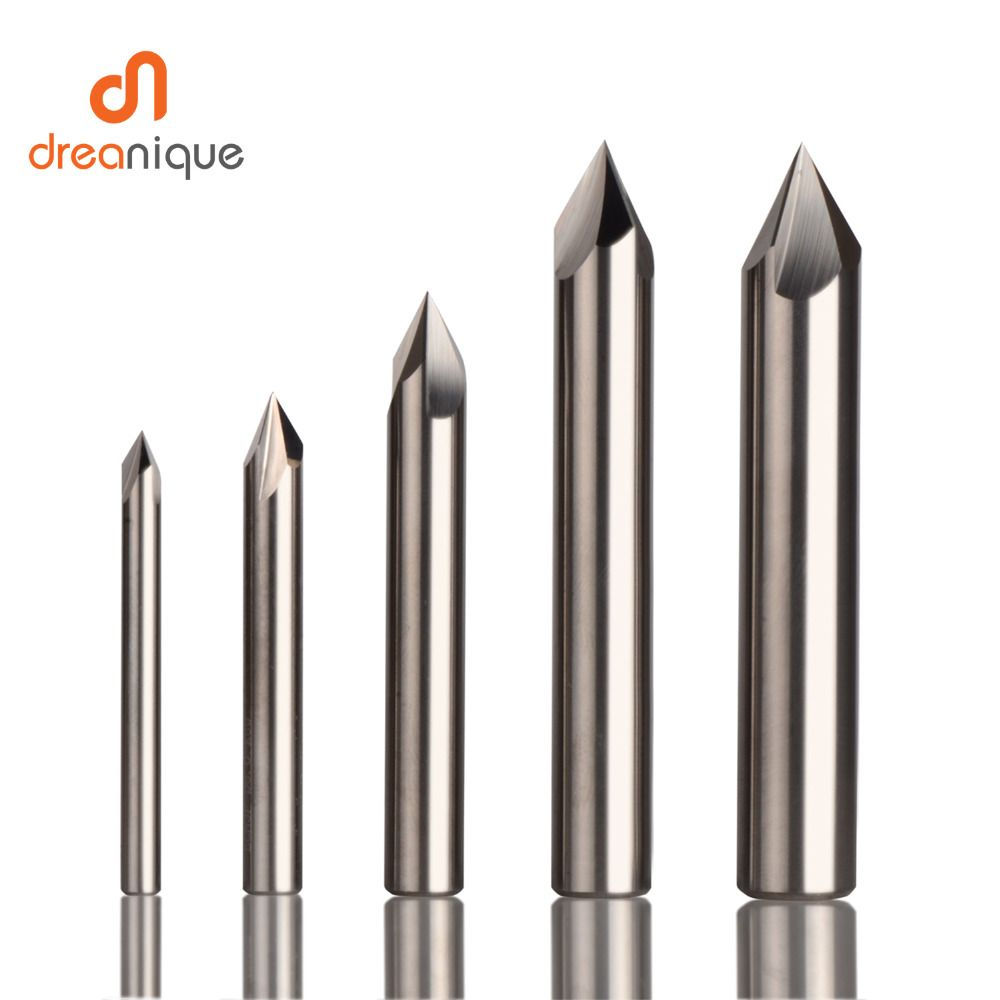 CNC tungsten carbide Chamfer milling cutter aluminium Copper,60 90 120 DEG deburring end mill 90 degree V groove router bit