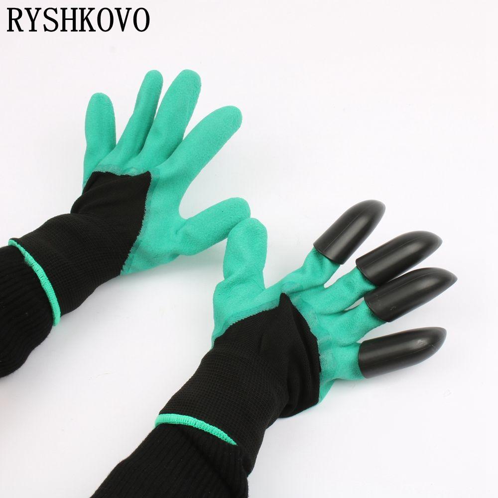1 para hohe qualität Garten emulsoid Handschuhe mit 4 ABS Kunststoff Claws für garten Graben Pflanzen handschuhe