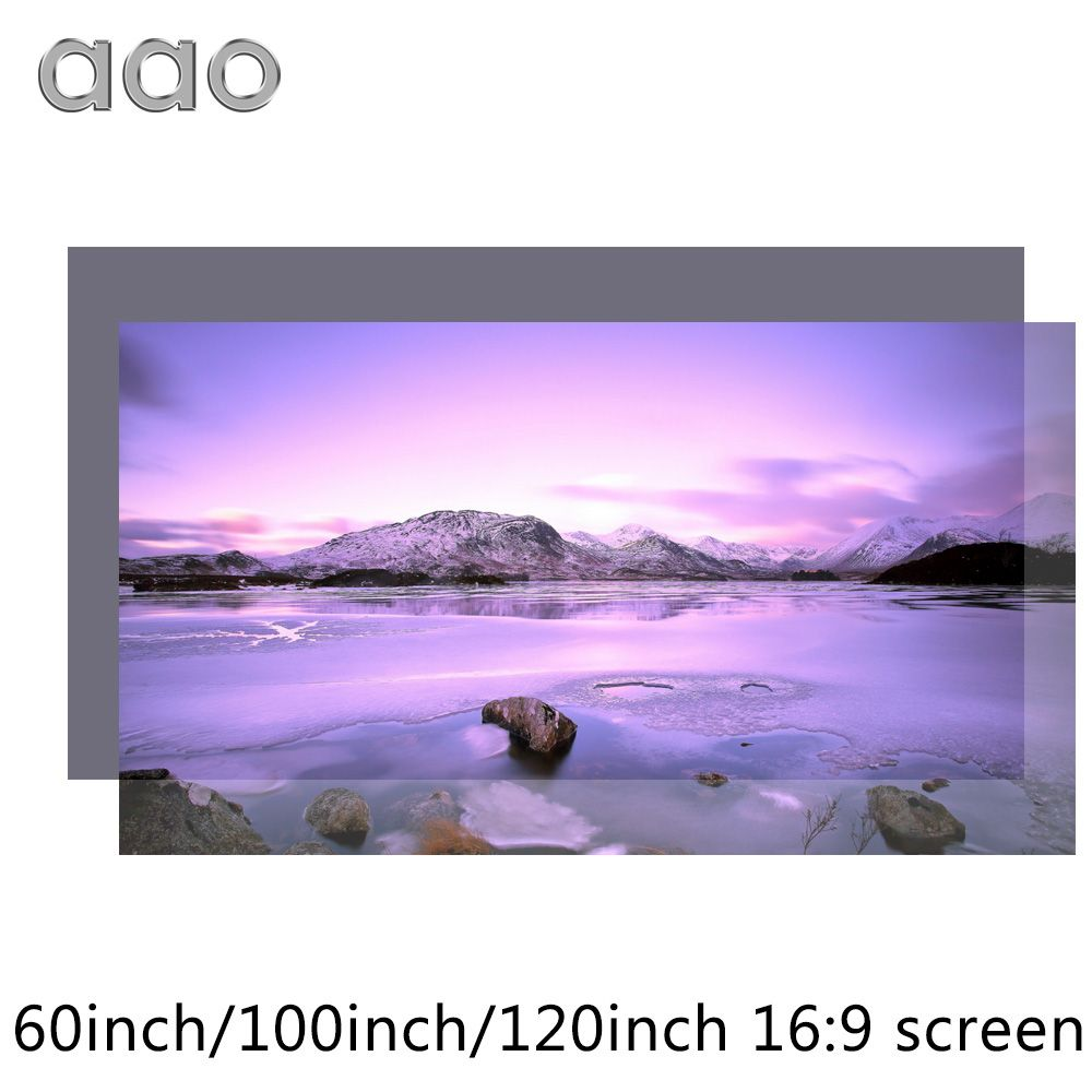 AAO 60 100 120 inch High Brightness Projector Screen Reflective Fabric Cloth Screen for Espon BenQ XGIMI Projector Home Theater
