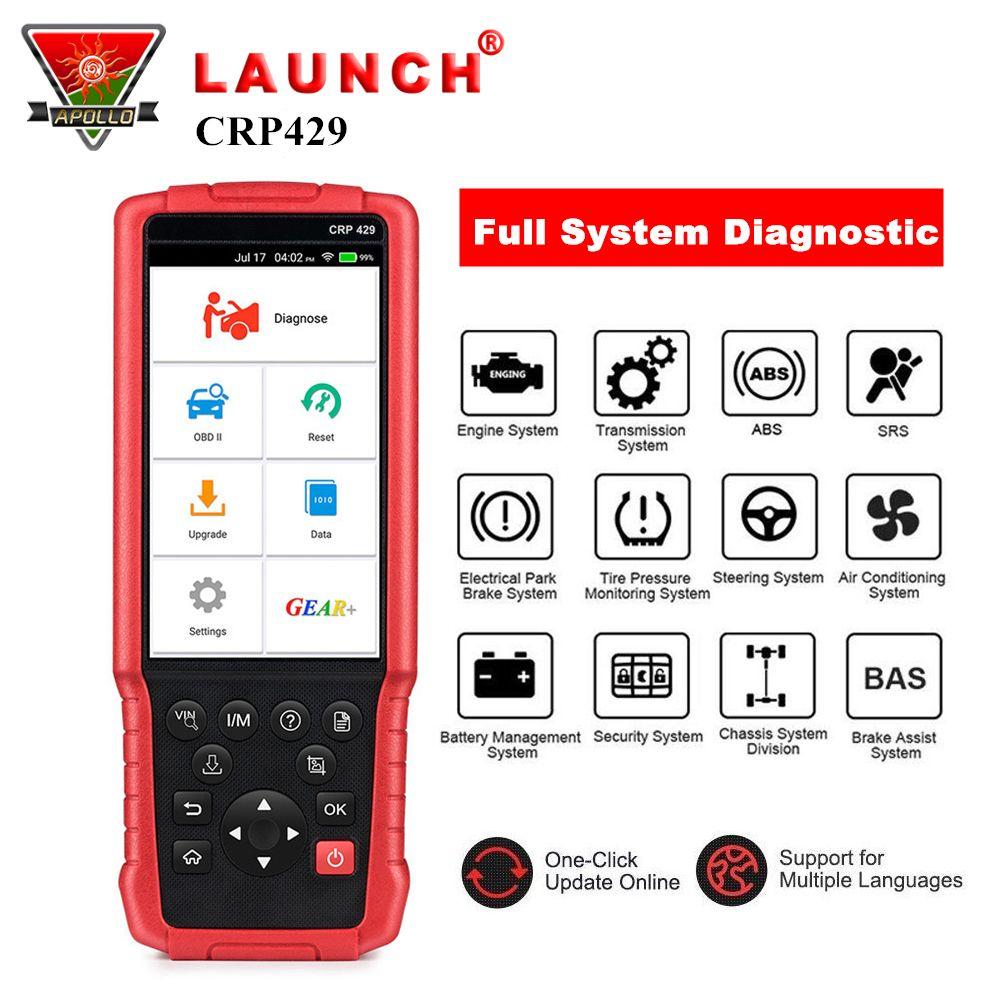 Starten CRP429 Volle System Auto Diagnose Werkzeug OBD2 OBDII Code Reader Scan Tool mit Öl/EPB/BMS/ SAS/ABS Reset pk CRP429C CRP423