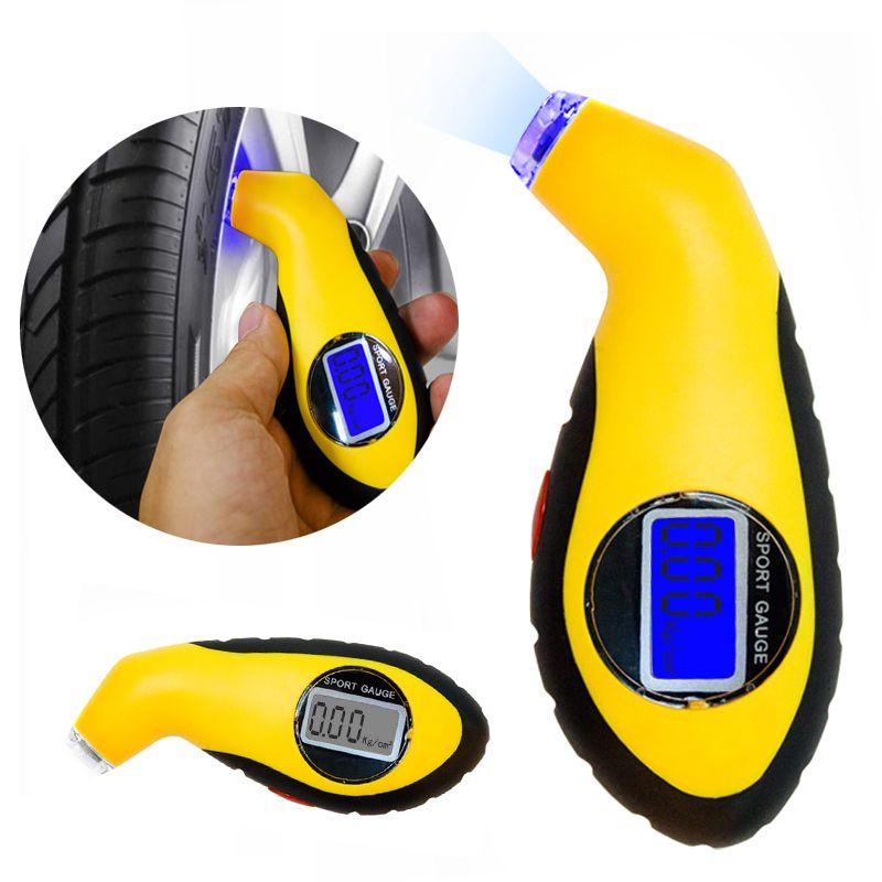 Diagnostic Tools Tire Pressure Gauge Meter Manometer Barometers Tester Digital LCD Tyre Air for Car Motorcycle Wheel