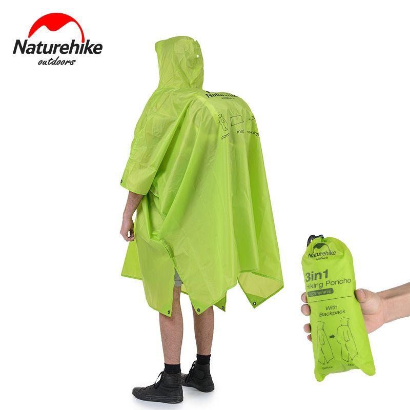 Naturehike Tragbare Multifunktionale Ourdoor Regenmantel 3 in 1 wasserdicht Schatten Abdeckung Wasserdicht Poncho Regenbekleidung