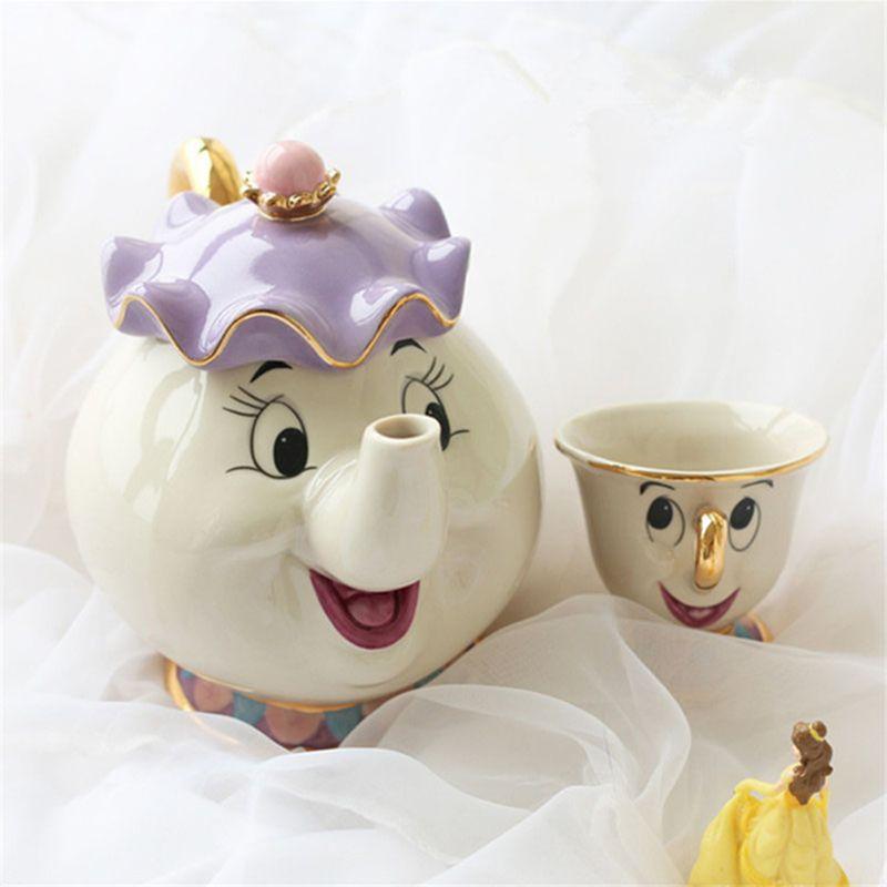 Cute Cartoon Beauty And The Beast Teapot Mug Mrs Potts Chip Cup Tea Pot Cup Set Nice Creative Xmas Birthday Gift Fast Post