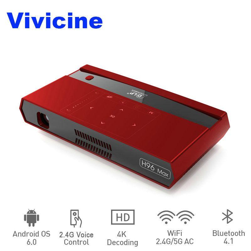 Vivicine 4 K Mini Projektor H96 Max, Android WiFi LED Heimkino Projektor, HDMI USB PC Video Spiel Mobile Proyector Beamer