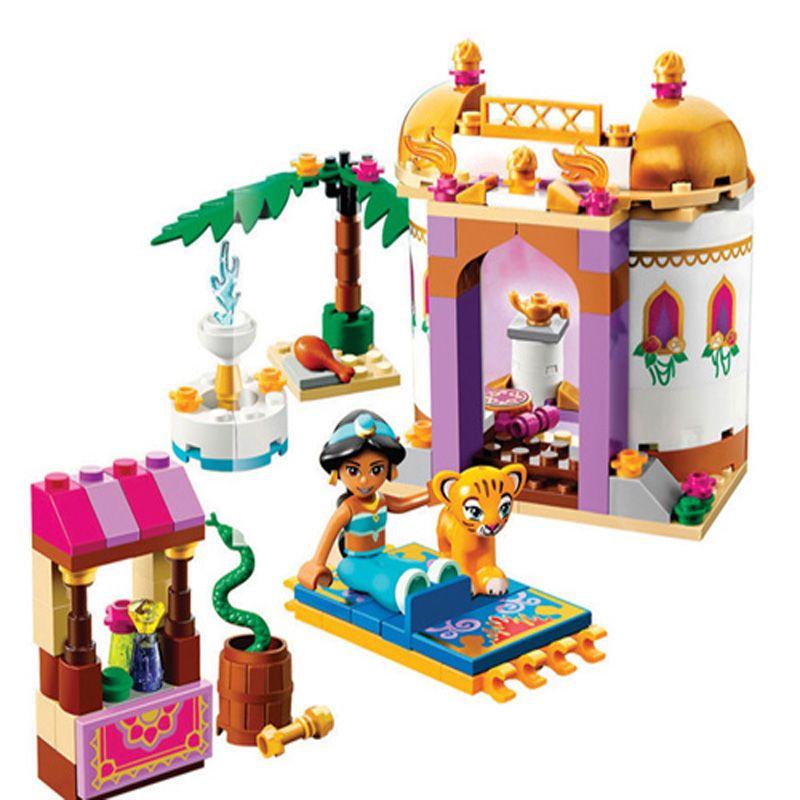 10434 Princesse Jasmin Exotique Palais de Construction Briques Blocs Définit Meilleur cadeau Jouets Compatible LegoINGly Amis 41061 pour filles